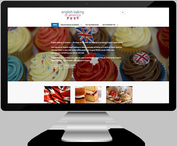English Baking in America Website